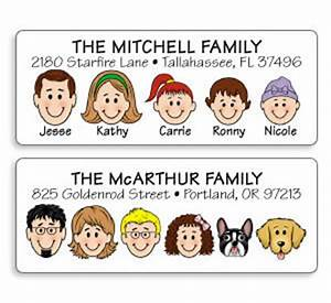 family caricature products With caricature address labels