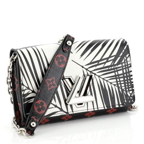 louis vuitton twist chain wallet limited edition palm print leather  monogra  stdibs