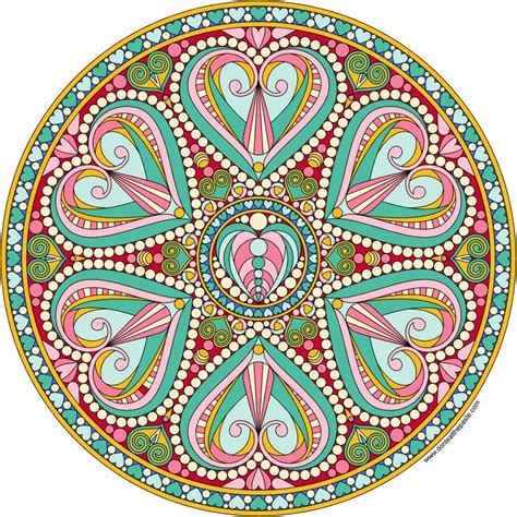 valentine mandala  color adult coloring