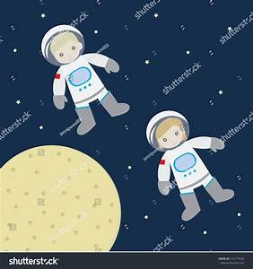 Astronaut Boy Girl Stock Vector 161279024 - Shutterstock