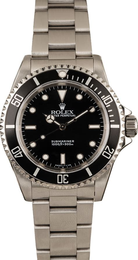 Buy Used Rolex Submariner 14060 | Bob's Watches - Sku: 128859