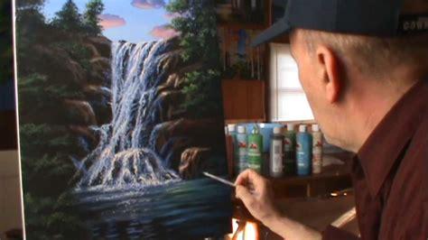 peindre chute d eau rapidement acrylique toile cours peinture artiste peintre