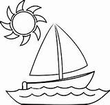 Boat Outline Drawing Printable Clip Drawings Coloring Google Silhouette sketch template