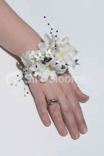 corsage bracelet artificial white hyacinth wedding wrist corsage w