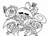 Coloring Parents Fairly Pages Oddparents Odd Printable Getcolorings Popular sketch template