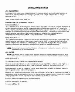 Resume Salary Requirements Perfect Correctional Officer Job Description