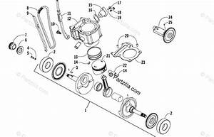 Arctic Cat Atv 2006 Oem Parts Diagram For Piston And Crankshaft Assembly