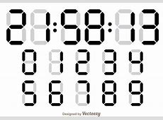 Digital Number Counter Download Free Vector Art, Stock