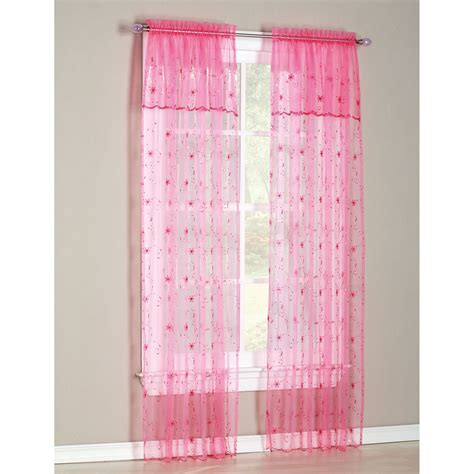 Kmart Pink Sheer Curtains by 54x84 Window Set With Attached Valance And Tie Backs