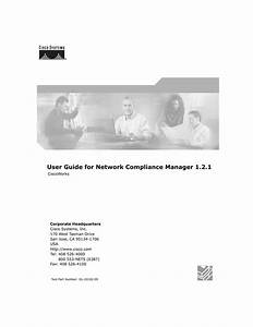 User Guide For Network Compliance Manager 1 2 1