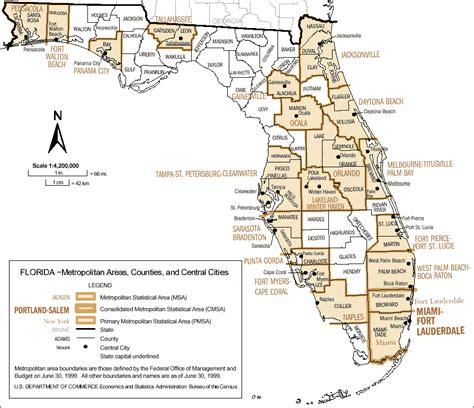 bureau a distance florida metropolitan areas counties and central cities