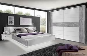 Schlafzimmer Komplett Weiß : rondino von forte schlafzimmer beton optik wei m bel ~ Orissabook.com Haus und Dekorationen