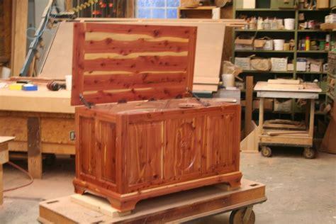 custom cedar hope chest  brassfield custom woodworks