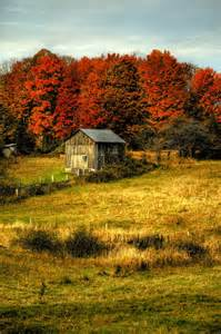 Country Fall Scenes Barns Pastures