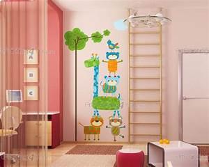 stickers chambre bebe singes girafe 2150fr With chambre bébé design avec livraison de fleurs à l étranger