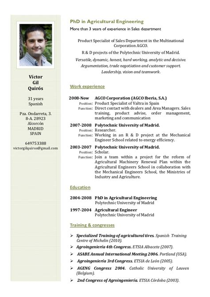 resume template cv english