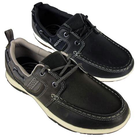 skechers boat shoes mens mens skechers newman vinci leather boat shoe loafer deck