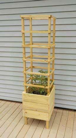tomato planter plans deck design  trellis