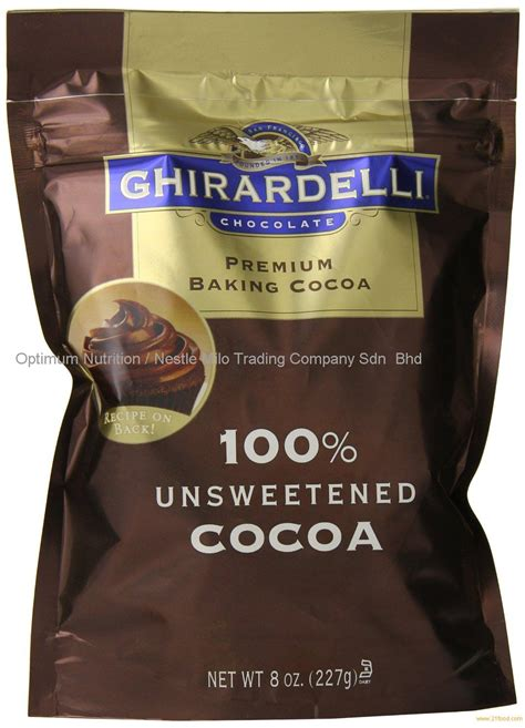 ghirardelli chocolate unsweetened cocoa pouch  ounce