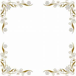 Golden Floral Corners Frame 2 by Paw-Prints-Designs on ...