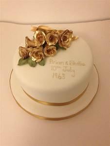 Owen Designs Golden Wedding Anniversary Cake Golden Wedding