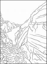 Coloring Outdoors Grand Wild Landscapes Nature Canyon Pdf Wildlife Wilderness Desert Mountains Books sketch template