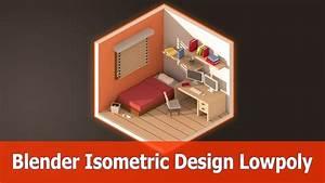 Blender Isometric Design Room Low Poly YouTube