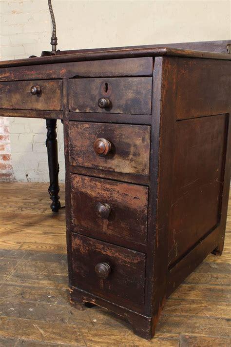 vintage industrial clerks desk workbench  adjustable