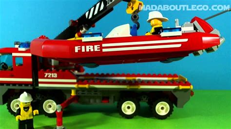 Lego Fire Truck And Boat by Lego City Fire Truck And Fireboat 7213 Youtube