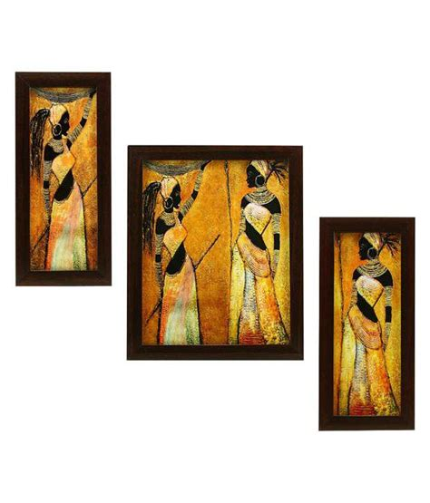 indianara 3 piece set of framed wall art beautiful african women buy indianara 3 piece set of