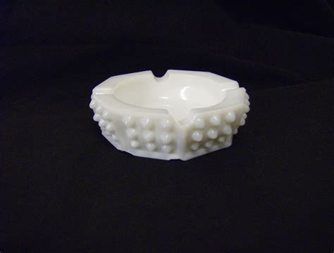 fenton milk glass fenton white milk glass hobnail ashtray from