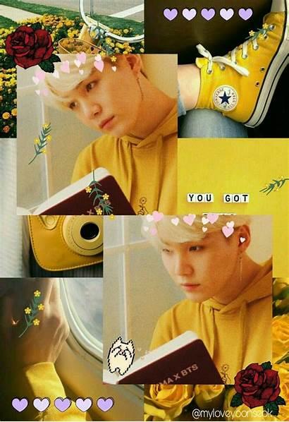 Aesthetic Yoongi Yellow Bts Jimin Min Wallpapers