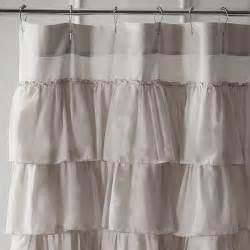 ruffled dove shower curtain pier 1 imports