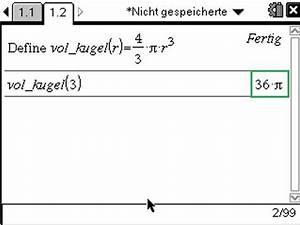 Radius Berechnen Kugel : cas volumen einer kugel allgemein cas rechner im mathematikunterricht ~ Themetempest.com Abrechnung