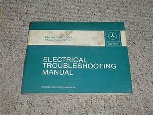 1980 Mercedes Benz 240d 240 D Electrical Wiring Diagram