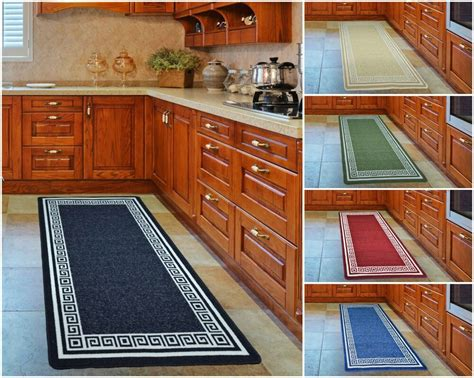 Kitchen Floor Mats For Bad Backs by Non Slip Kitchen Floor Machine Washable Rubber Back Rug