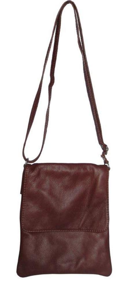 italian leather cross body bag brown