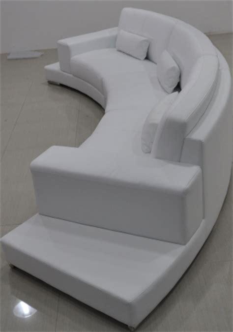 canape demi cercle canapé d 39 angle demi lune en cuir pop design fr