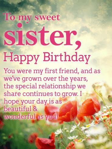 Happy Birthday Wishes to My Beautiful Sister
