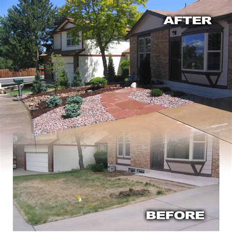 landscaping before and after before and after photos glacier view landscape and design inc