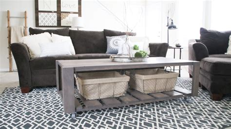 diy crate coffee table  wheels shanty  chic