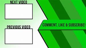 Just an outro design by defiantartz on deviantart for Blank outro template
