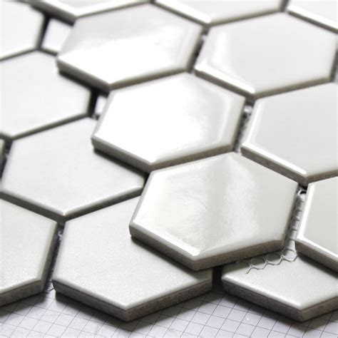 glossy ceramic tile white hexagon glazed ceramic mosaic floor and wall tile