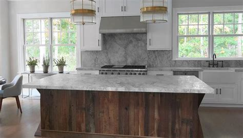 kitchen  salvaged wood island contemporary kitchen
