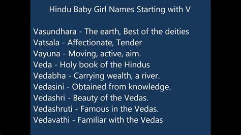 indian hindu baby girl names  youtube