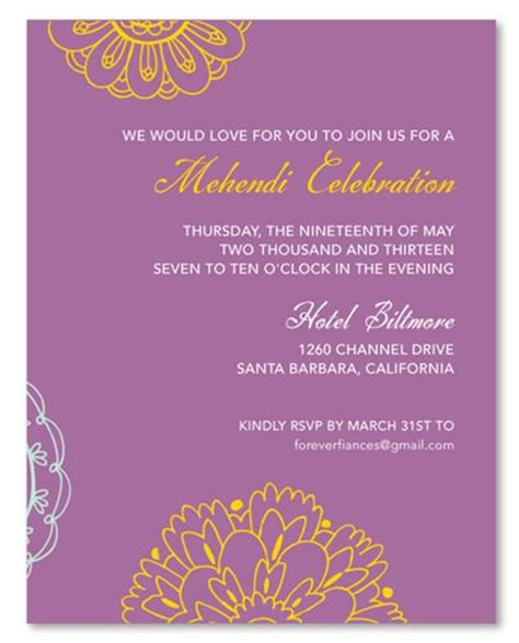 wording  mehndi invitation google search wedding