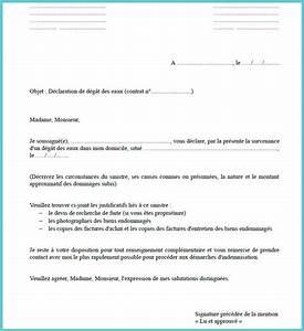 Lettre Declaration Sinistre : exemple modele lettre assurance sinistre ~ Gottalentnigeria.com Avis de Voitures