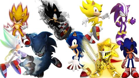 All Sonic Forms | Sonic the hedgehog, Sonic, Anime