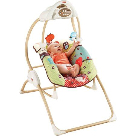 Fisher Price Rocker Swing by Fisher Price 2 In 1 Baby Swing N Rocker With Five