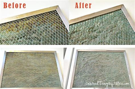 how to clean kitchen exhaust fan mesh how to clean your greasy range hood filter one good
